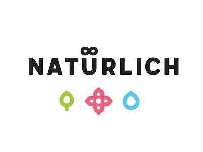 Natürlich logo 2 leaf coffee shop graphic design logo naturlich