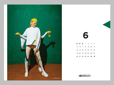 GEOMETRY OF SPORT – June typography sport shapes layout graphic design colours calendar