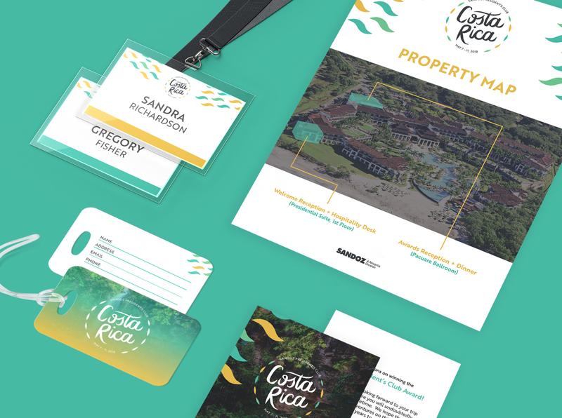 Sandoz President's Club event branding event tropical logo design design branding branding and identity branding design