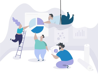Backstage of Dashboard design backstage violet teamwork team sketch ui web character vector minimal dashboard illustration