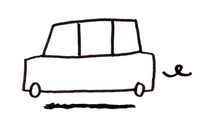 "Car icon for ""Las Julias"" logo"