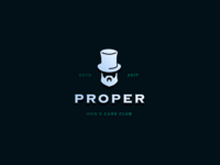PROPER - Men's Care Club - Logo Concept