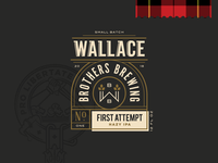 Wallace Brothers Brewing - Label Design Elements