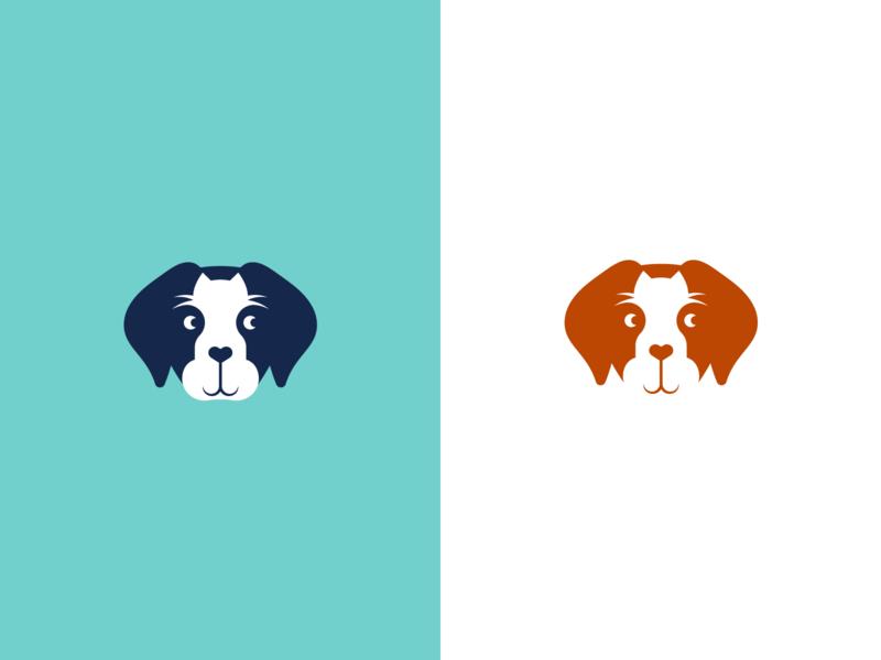 Frontier Veterinary Hospital - Logomark pet care silhouette whiskers illustration pet business face logomark logo veterinary cat dog animals animal pet