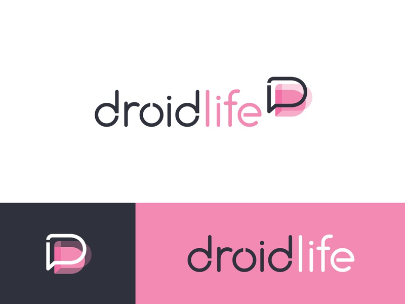 Droid Life - Logo Variants type tech logo tech android droid