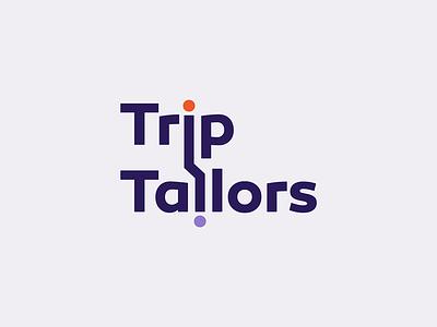 """more trip than tailors"" logotype concept idea logotype travel trip"