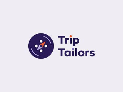 Trip Tailors another concept travel compas button logo