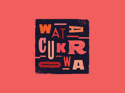 Wata Cukrowa / Cotton Candy (Alternative Version) lettering logotype lettering logo