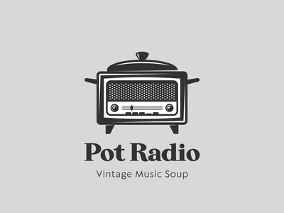 Pot Radio vintage logo pot
