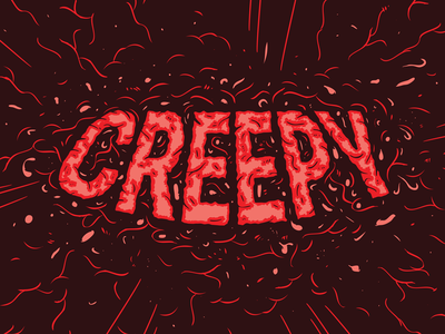 Creepy halloween design typogaphy illustration