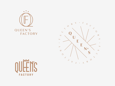 Queen's Factory boutique fashion logotype