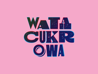 Cotton Candy (Wata Cukrowa) branding woodtype logotype