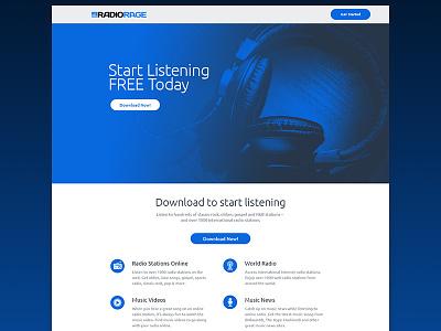 RadioRage landing page landing page web website