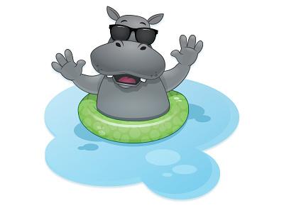 Hippo Mascot character illustrator mascot illustration