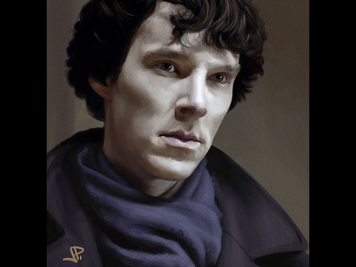 Sherlock benedict cumberbatch sherlock study photoshop portrait