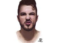 Face study portrait