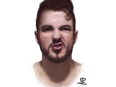 Face study portrait painting photoshop study