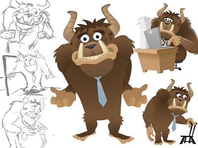 Everyday Monster character design monster sketches illustrator flash