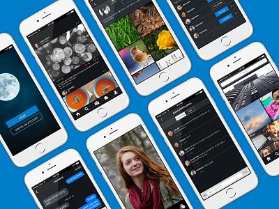 Photo app design mobile app