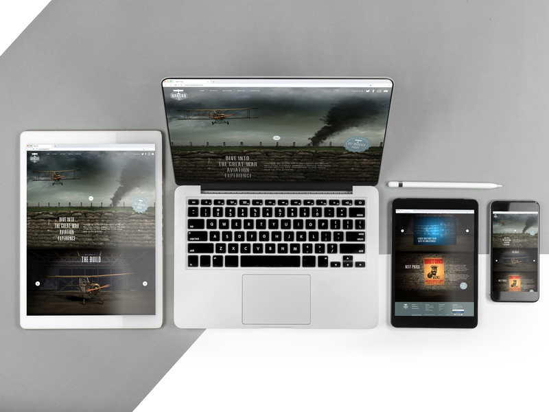 Hanger 32 website web worldwar1 webdesign ux concept ui branding design