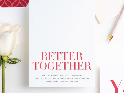 Better Together |  Paper Culture Wedding