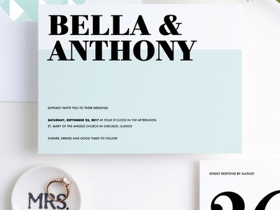Boldly Typographic | Paper Culture Wedding