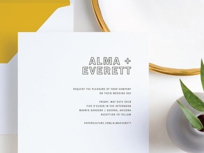 Color Up | Wedding Invitation for Paper Culture