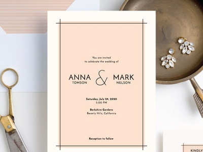 Simple Lines | Wedding Invitations for Paper Culture
