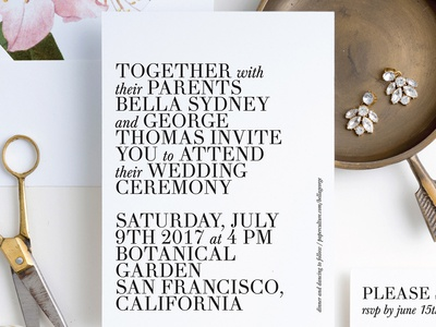 Botanical Bliss | Wedding Invitation for Paper Culture