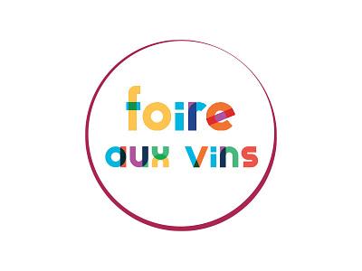 foire aux vins typo color logotype foire aux vins logo