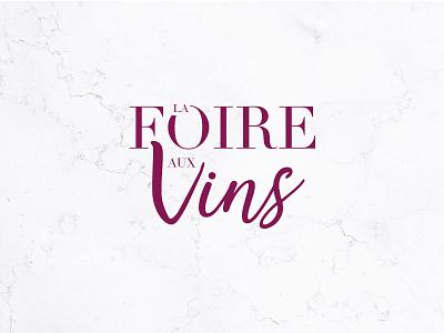Logo La foire aux vins foire vins vins typo logo