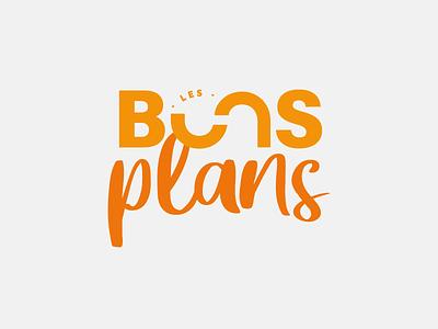 Les bons plans bons plans color typo logo