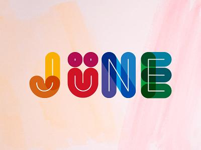 Jüne jüne cercle typo color logo