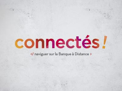 Logo Connectes typo color icotype logo