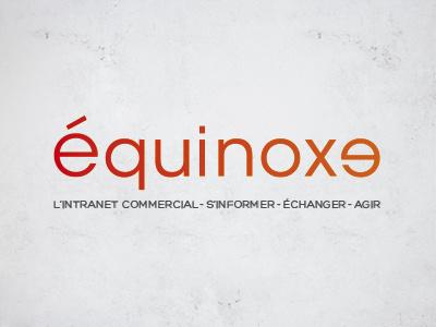 Logo Equinoxe color typo icotype logo