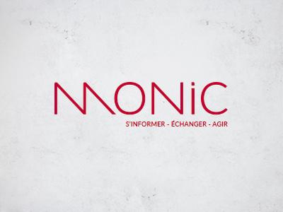Mon Intranet Commercial : Monic color typo logo