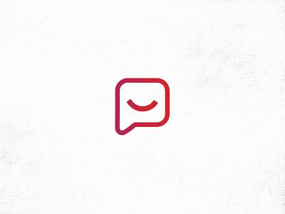 Logo bulle et sourire bullet sourire color icotype logo