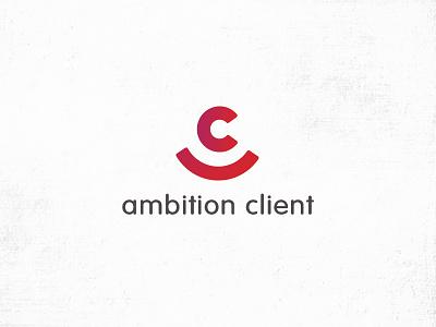 Logo Ambition Client client sourire typo icotype color logo