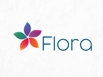 Logo Flora flora fleur icotype couleur logo