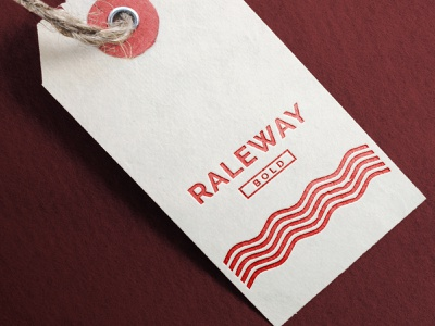 Holiday Tag - Raleway typeface type weekly warm-up tag holiday font