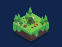 Isometric Campsite