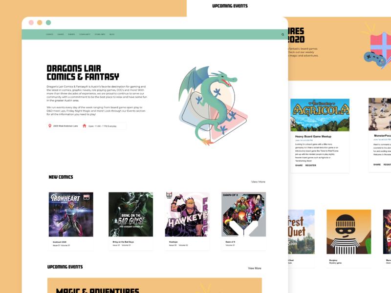 Dragon's Lair landing page design landing page dragon website