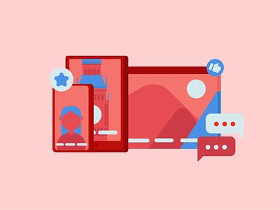 Benefits of Subtitles on Videos red illustration benefits subtitles devices