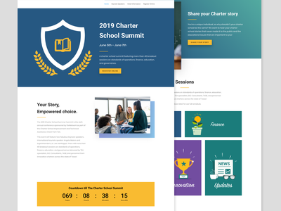 Charter School Conference Event Page education summit conference landing page event event page school charter school