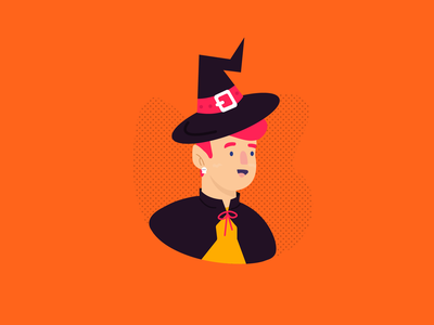 Season of the Witch spooky man wizard illustration witchcraft