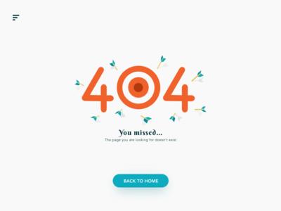 Daily UI 008 - 404 Page daily ui 008 darts dailyui error web interface 404 error page