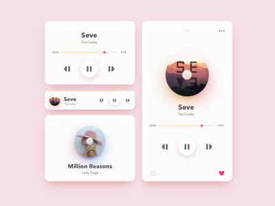Daily UI 009 - Music Player daily ui 009 app design widget mobile app ux ios music player music