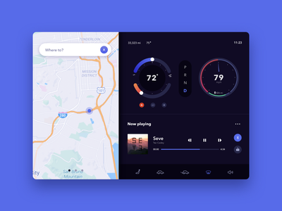 Daily UI 034 - Car Interface ux ui interaction automobile dashboard design challenge automobile design car interface tablet car dashboard car dailyui daily ui