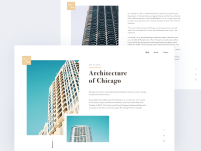 Daily UI - 035 Blog Post web dailyui blogging web interface daily ui architecture blog blog post