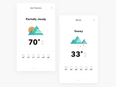 Daily UI 037 - Weather ux ui interaction simple design challenge mobile design weather app app weather forecast weather dailyui daily ui